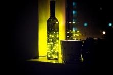 Lampka z butelki po winie -...