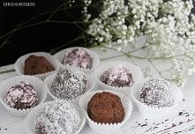 Domowe trufle, obłędnie czekoladowe :) robi się je w kilka minut i z kilku sk...