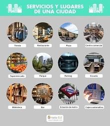 Servicios y lugares de ciudades.