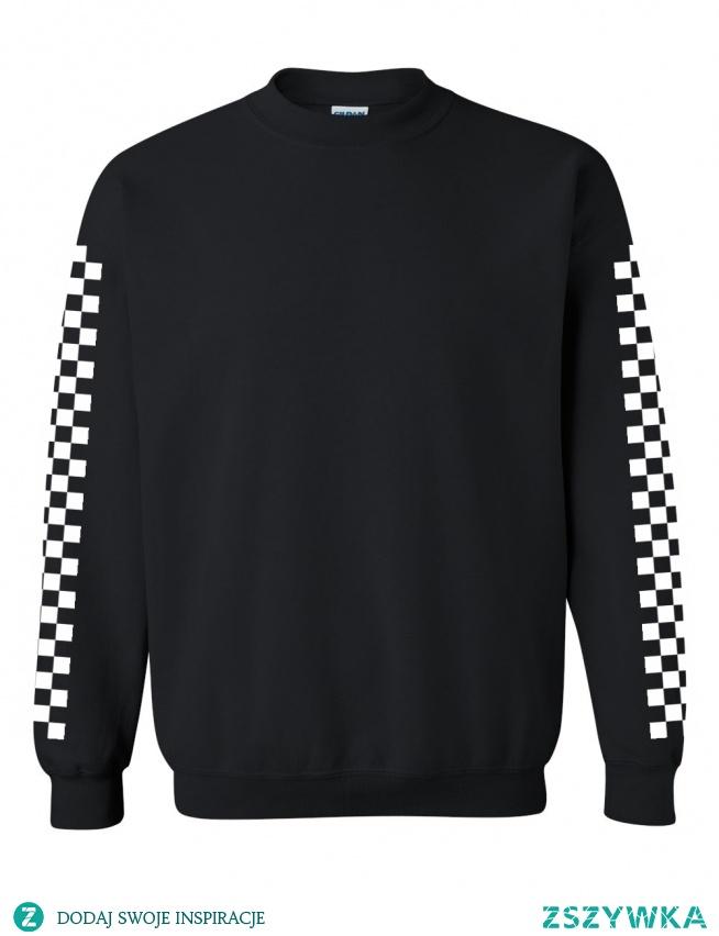 Bluzy z szachownicą na rękawach do kupienia na swagshoponline.pl ♥ NOWA KOLEKCJA!
