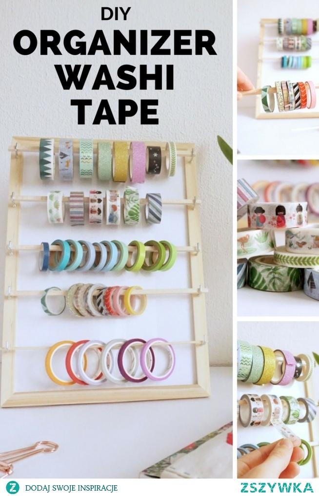 DIY Organizer na washi tape - Zrób to sam - organizacja taśm washi • origamifrog.pl
