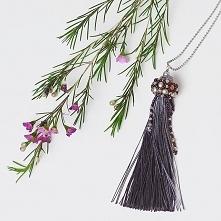 Długi wisior z lawendowym chwostem :) Na wiosenne dni ;) #sotuar #wisior #dlugi #chwost #fiolet #lawendowy #beading #jewellery #plecione #koralikami
