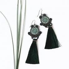 Deep green celtic earings :) #deepgreen #earrings #celtic #longearrings #długiekolczyki #zielen #trawa #rośliny #garden of #beauty #ethno #etnochic #etnostyle