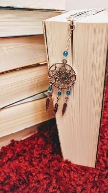 Metalowa zakładka do książki z motywem łapacza snów