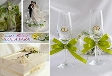 Dekoracje zielone, ślub, we...