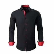 Alex Vando Mens Dress Shirts Cotton Casual Regular Fit Long Sleeve Collar Shi...