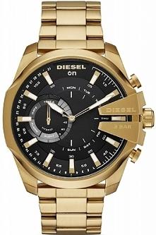 Diesel DZT1013 nowy Hybrydowy Smartwatch dla Panów w wyjątkowej wersji kolorystycznej żółtego złota . Wykonany z nierdzewnej stali na bransolecie z zapięciem motylkowym. Czarną ...