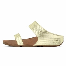 Women Fitflop Lulu Weave Sandals Pale Gold fitflopsandalsclearance.us