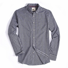 Alex Vando Mens Button Down Standard-fit Long-sleeve Washed Plaid Shirt Black...