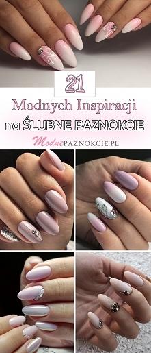 TOP 21 Inspiracji na Ślubne Paznokcie dla Panny Młodej
