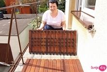 Drewno na taras lub balkon