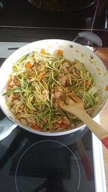 Spaghetti z cukinii :)