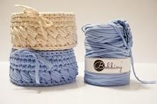 Zobacz jak zrobić koszyk ze sznurka bawełnianego lub włóczki t-shirt yarn.