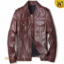 Patented Leather Jacket | CWMALLS® Cowboy Calfskin Leather Jackets CW808052[C...
