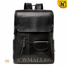 Patented Leather Backpack | CWMALLS® Leather Flap Laptop Backpack CW907016[Fa...