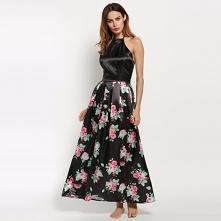 Kwiaty rządzą! Długa sukien...