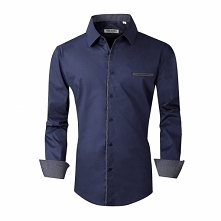Alex Vando Mens Dress Shirts Cotton Poplin Spandex Long Sleeve Regular Fit Ca...
