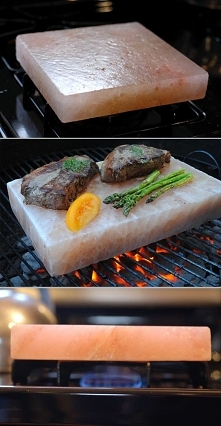 Cook with a Himalayan salt block for perfectly salted food every time. Good f...