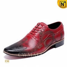 Men Leather Shoes   CWMALLS® Patent Lace-up Leather Shoes CW708206[Father&#03...