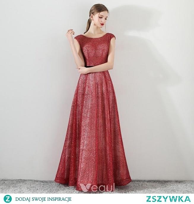 abdd8d76 Bling Bling Czerwone Sukienki Wieczorowe 2018 Princessa Wycięci.. na ...