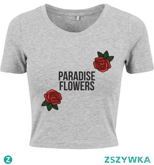 T-shirt crop z nadrukiem do kupienia na swagshoponline.pl ♥