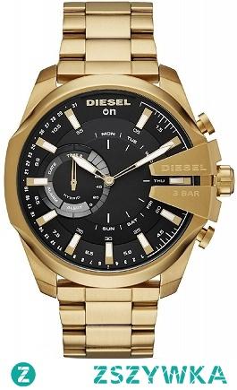 Diesel DZT1013 nowy Hybrydowy Smartwatch dla Panów w wyjątkowej wersji kolorystycznej żółtego złota . Wykonany z nierdzewnej stali na bransolecie z zapięciem motylkowym. Czarną tarczę zdobią złote detale. Wielofunkcyjny i stylowy zegarek dostępny na naszej stronie, aby przenieść się do sklepu kliknij w zdjęcie :)