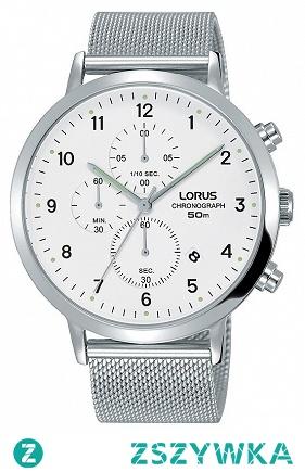 Lorus RM313EX9 elegancki zegarek męski wykonany ze stali na bransolecie siatkowej. Na białej tarczy widnieje chronograph i miesięczny datownik. Aby przenieść się do sklepu kliknij w zdjęcie :)