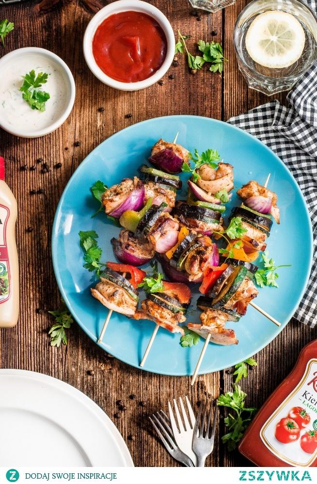 Rewelacyjne szaszłyki z boczkiem, kurczakiem i warzywami -idealne na grilla! :)