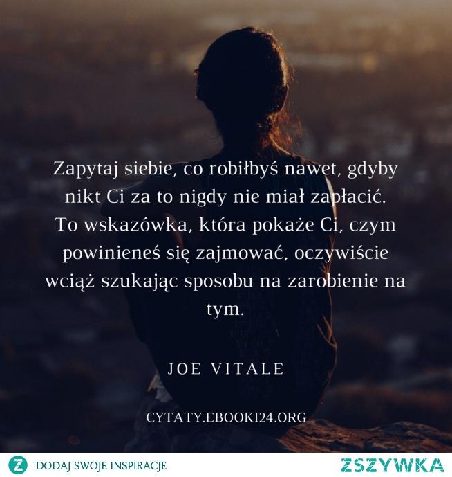 Joe Vitale cytat o właściwym wyborze pracy