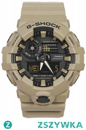 Casio GA-700UC-5AER zegarek męski G-shock wytrzymały i odporny na uderzenia. Wykonany z tworzywa w kolorze khaki. Wyposażony w wysoką wodoszczelność 100-stu metrów. Aby przenieść się do sklepu kliknij w zdjęcie :)
