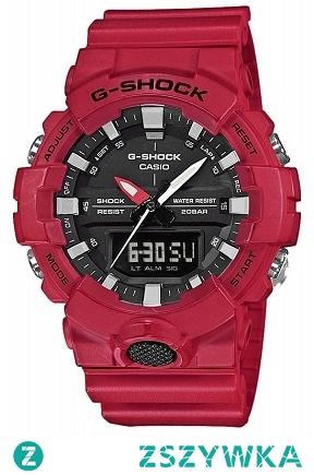 Casio GA-800-4AER  sportowy zegarek męski wykonany z wytrzymałego tworzywa w kolorze czerwonym. Wielofunkcyjny i wodoodporny. Aby przenieść się do sklepu kliknij w zdjęcie :)