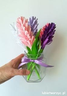 Tutorial ukazujący sposób tworzenia papierowych hiacyntów :)