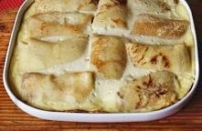 Naleśniki z serem zapiekane w sosie