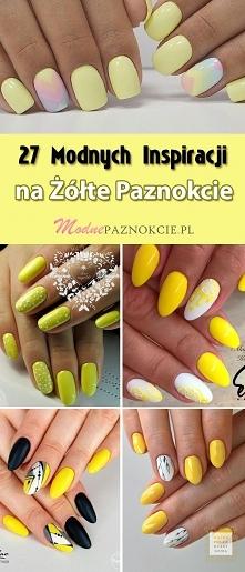Żółte Paznokcie na Lato! TOP 27 Modnych Inspiracji, Które są na Topie!