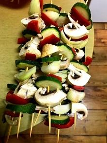 Warzywne szaszłyczki na grilla.