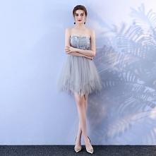 Szary Seksowne Sukienki Koktajlowe 2018 Princessa Z Koronki Aplikacje Kochanie Bez Pleców Bez Rękawów Krótkie Sukienki Wizytowe