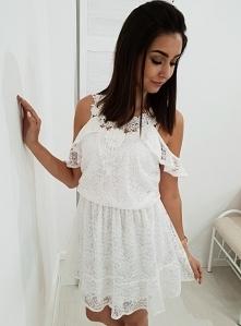 Sukienka JUDITE koronka biała. Ottanta - sklep online