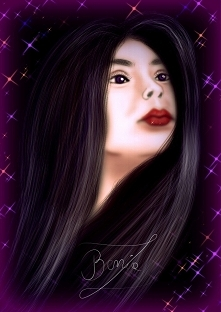 """Digital painting - """"Woman with star""""  Chcesz zamówić obraz lub portret? Pisz :)"""