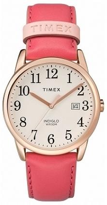 Timex TW2R62500 różowy zegarek damski z wyraźną jasną tarczą, która wyposażona jest w podświetlenie Indiglo. Wykonany ze stali i skóry w odcieniu złota i różu. Aby przenieść się...