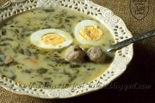 Zupa szczawiowa z pulpecikami