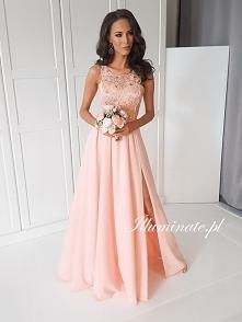 Przepiękna morelowa, długa sukienka z kolekcji Illuminate <3