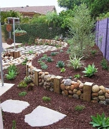murek z kamieni.. ogród odm...