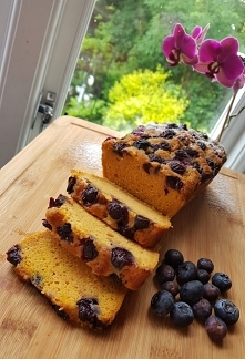 Dyniowe ciasto z borówkami ...