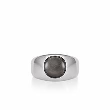 Unikalny Pierścionek Srebrny - srebro 925, Obsydian