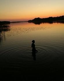 Zachód słońca. Mazury