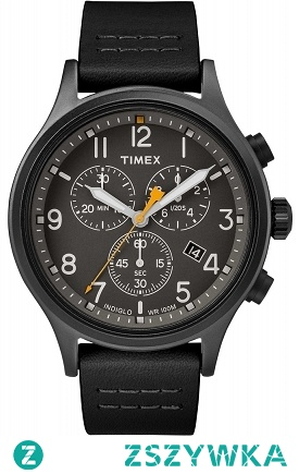 Timex TW2R47500 męski zegarek klasyczny ze sportową nutą w formie chronographu. Wykonany ze stali oraz skóry. Całość w kolorze czarnym.  Wyróżnia go wodoszczelność 100-stu metrów. Aby przenieść się do sklepu kliknij w zdjęcie :)