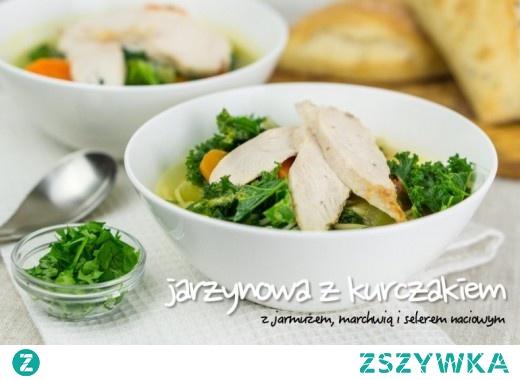 Zupa jarzynowa z kurczakiem