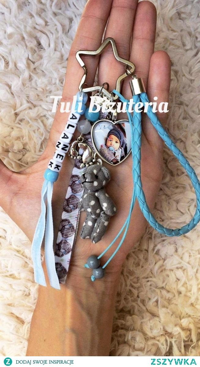 Brelok ze zdjęciem, imieniem dziecka, dowolnym napisem by Tuli Biżuteria