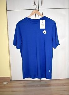 Niebieski granatowy t-shirt bluzka Converse 38 M Niebieski t-shirt firmy Conv...