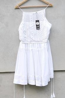 Sukienka biała boho lato koronkowa 38 M 40 L Sukienka lato boho koronkowa 40 ...